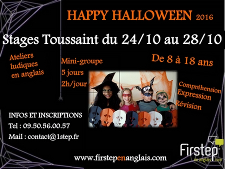 stages anglais halloween firstep