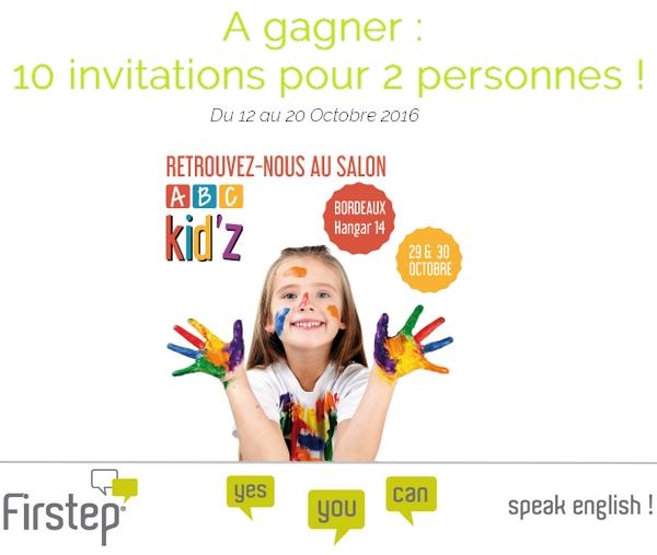 concours facebook : invitations pour le salon ABC Kid'z à bordeaux